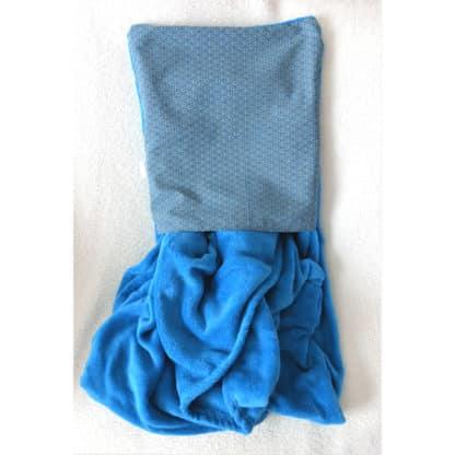 Coussin Plaid Turquoise « Géométrie » en format plaid