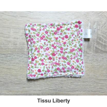 lingettes réutilisables tissu liberty